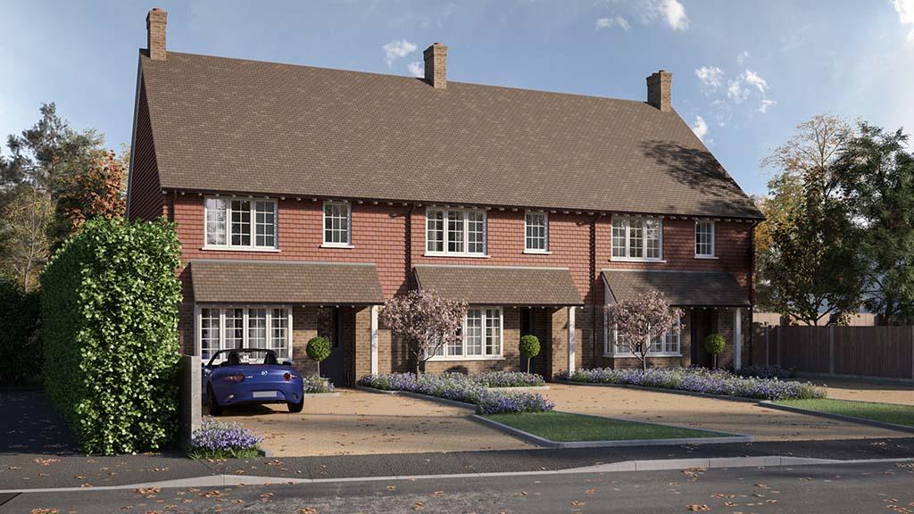 Patrick Gardner - Rowan Cottages - Front Elevation CGI